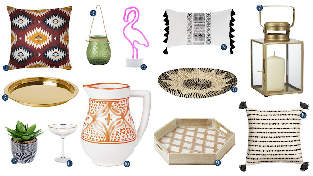 Update your home and garden for the new summer 2018 season with home accessories and decor items from the high street costing less than £20 and under