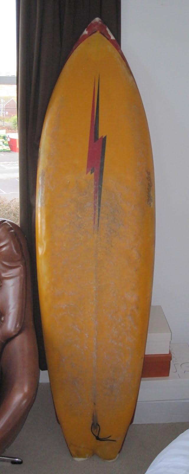 Vintage Surfboard Collector Uk Lightning Bolt Twin Fin