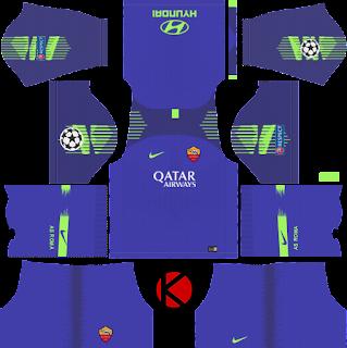 as-roma-nike-kits-2018-19-dream-league-soccer-%2528goalkeeper-home%2529-ucl