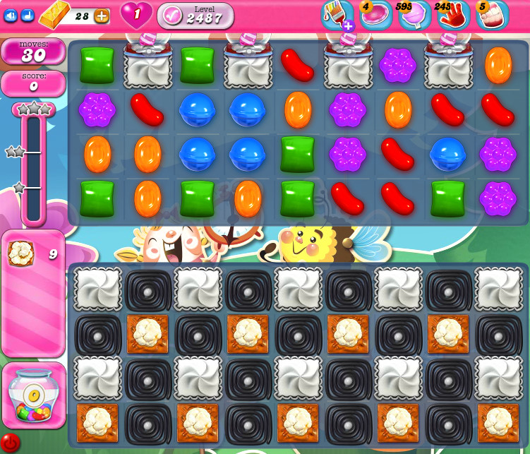 Candy Crush Saga level 2487