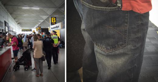 Pierde vuelo por usar carátula de iPhone en forma de pistola
