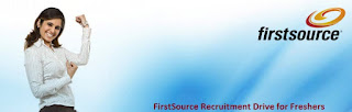 FirstSource Recruitment Drive for Freshers: 2014 / 2015 / 2016 Batch