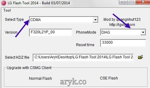LG FlashTool Flashing Options