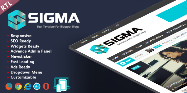 Sigma Responsive Seoptimized Blogger Theme