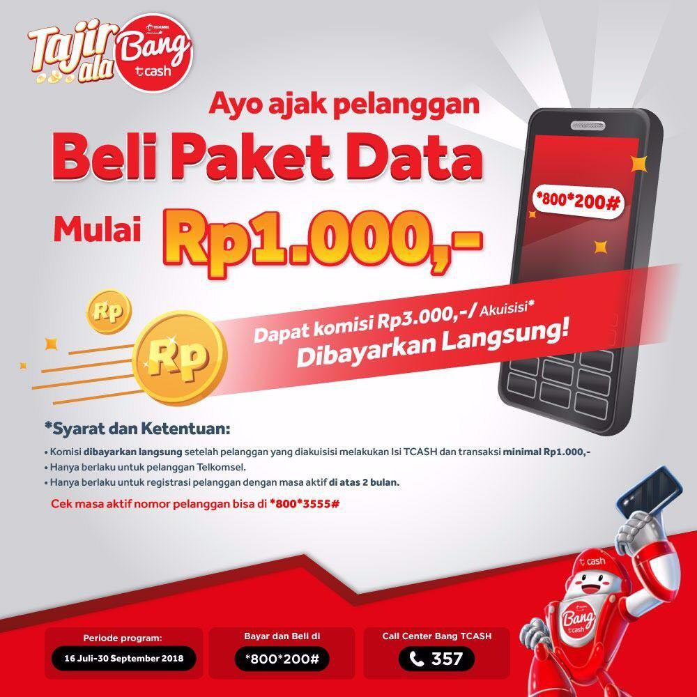 PROMO BANG TCASH TERBARU AGUSTUS 2018 - Bahasan Cellular dan