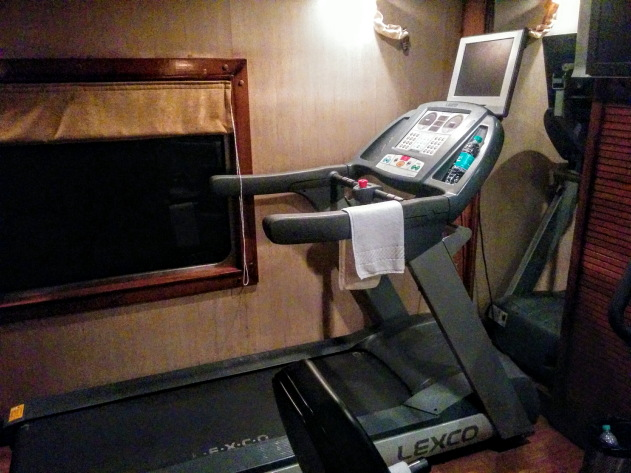 Gym on the Golden Chariot Train