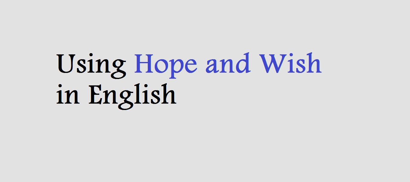 Carolina Perbedaan Penggunaan Wish Dan Hope