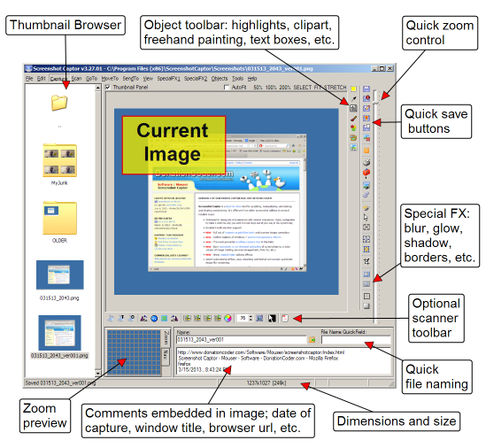 Screenshot Captor - Δωρεάν εφαρμογή δημιουργίας Screenshots με πολλά εργαλεία
