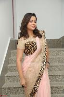 Shilpa Chakravarthy in Lovely Designer Pink Saree with Cat Print Pallu 030.JPG