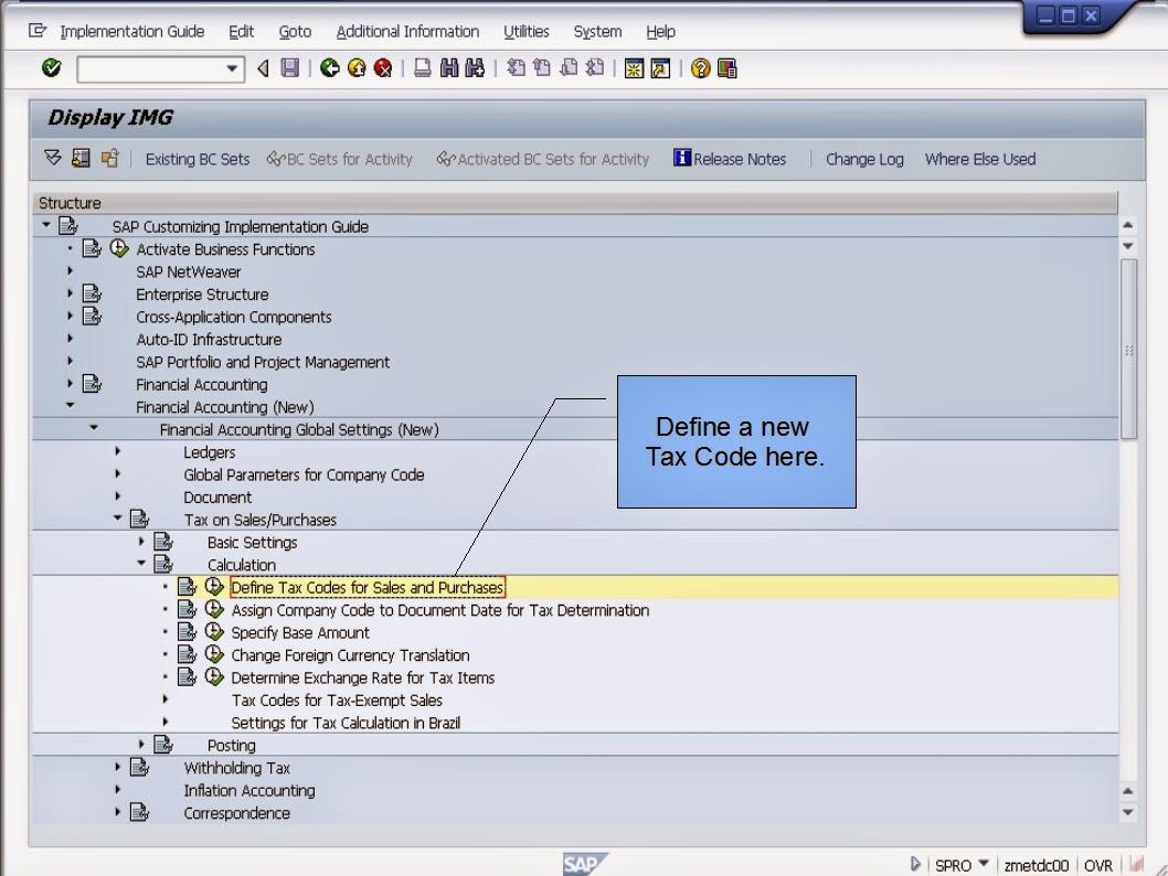 青蛙SAP分享 Learning & Examination: SAP FI - Tax Codes