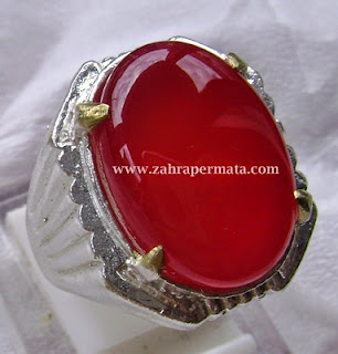 Cincin batu Permata Red Baron Pacitan