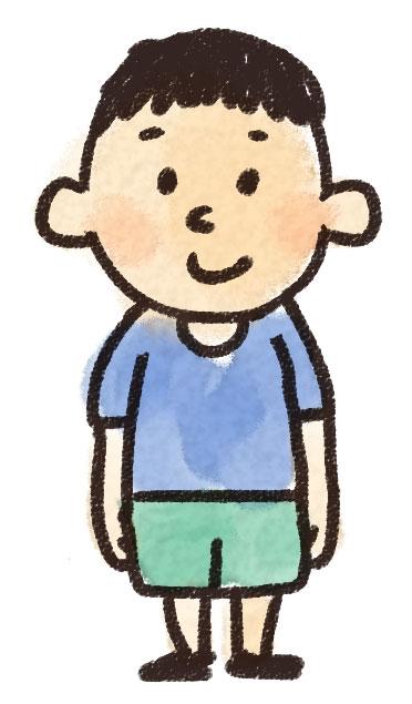 小学生の男の子のイラスト: ゆるかわいい無料イラスト素材集