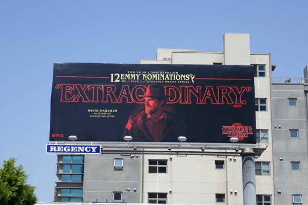 David Harbour Stranger Things 2 Emmy nominee billboard