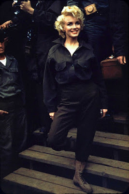 Marilyn Monroe con las tropas americanas en Corea