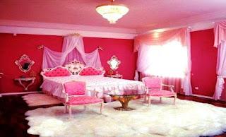 Desain Kamar Tidur Anak Perempuan Cat Warna Pink