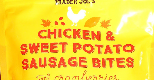 Trader Joe's Chicken & Sweet Potato Sausage Bites with Cranberries Jerky Dog Treats