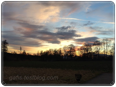 Februar - Sonnenuntergang