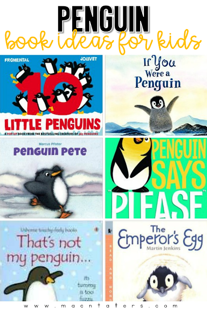 This is a great list of penguin themed books that are great for toddlers, preschoolers, and school aged kids. These go great with any tot school curriculum and for your penguin learning activities.