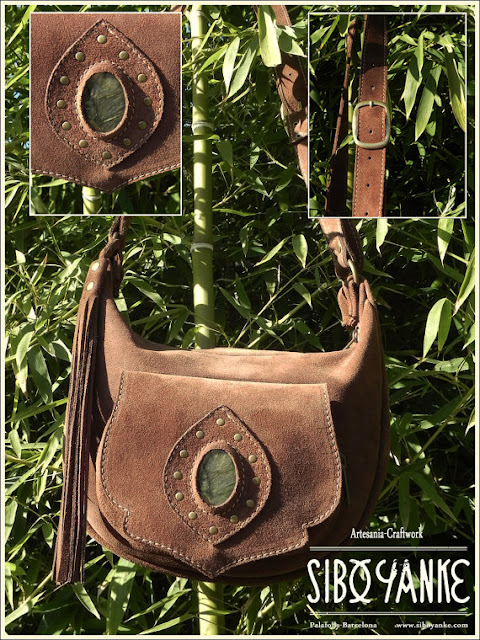 Leather Moon Bag, Boho Bag, Gypsy Bag, Leather Utility Belt.