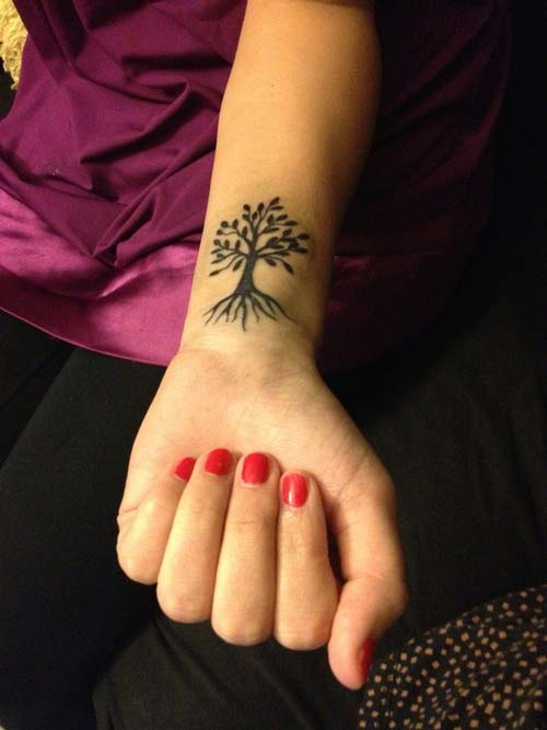 ağaç bilek dövmeleri bayan wrist tattoos for women