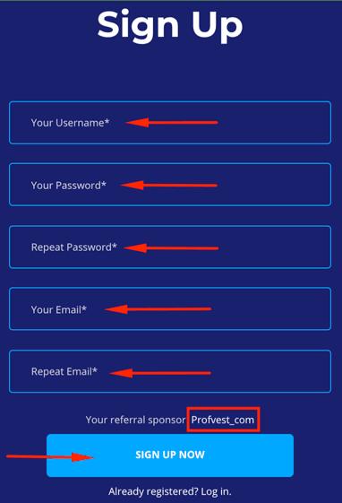 Регистрация в MiBit 2