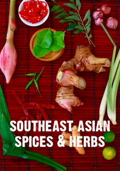 list of essential spices & herbs for cooking thai, malaysian, indonesian, cambodian, lao dishes