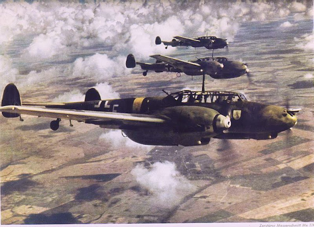 Bf 110 color photos World War II worldwartwo.filminspector.com