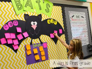 Bat Facts display, great way for students to gather facts about bats