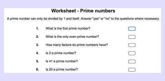 Actividad para aprender más sobre los números primos