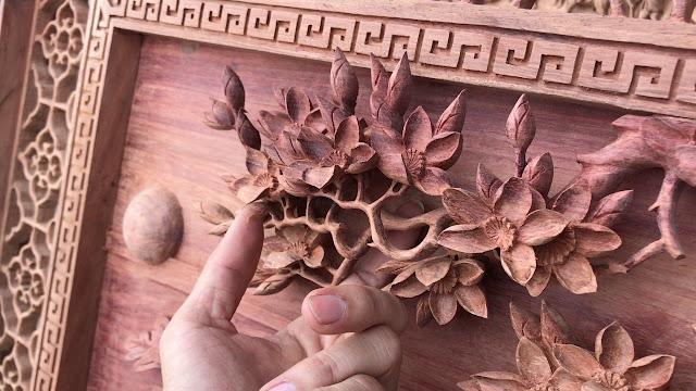 tranh gỗ hải dương đồng giao