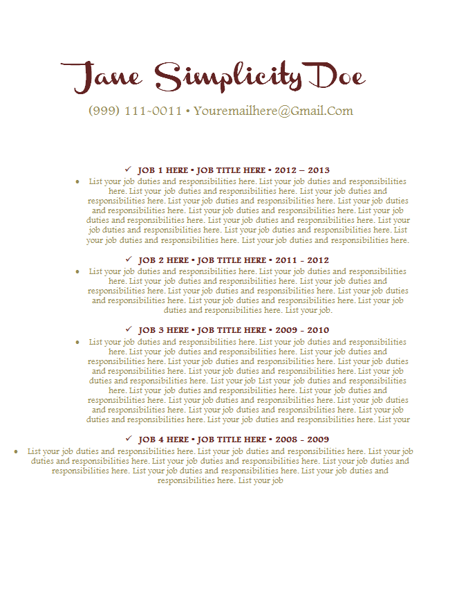 jarte resume templates