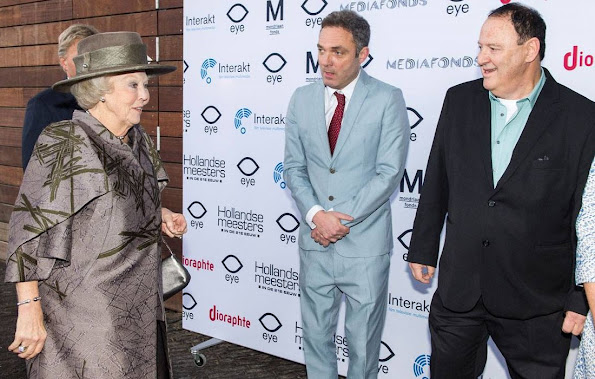 Princess Beatrix of The Netherlands attended the premiere of the 5th series of Dutch Masters ( Hollandse Meesters) in the 21st century at the EYE Museum of Amsterdam