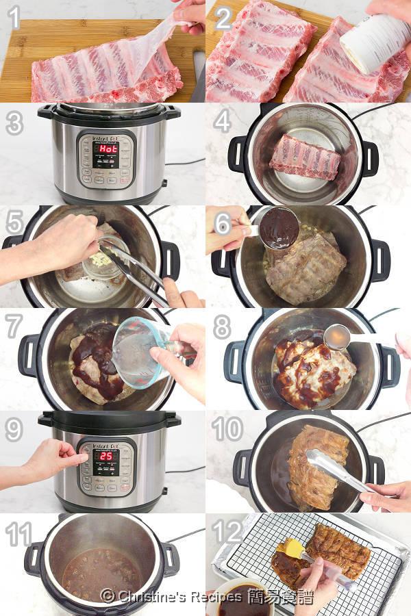 Smoky BBQ Pork Ribs Instant Pot Procedures
