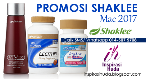 promosi, shaklee, mac, 2017, vitalea for children, lecithin, vivix, inspirasihuda,
