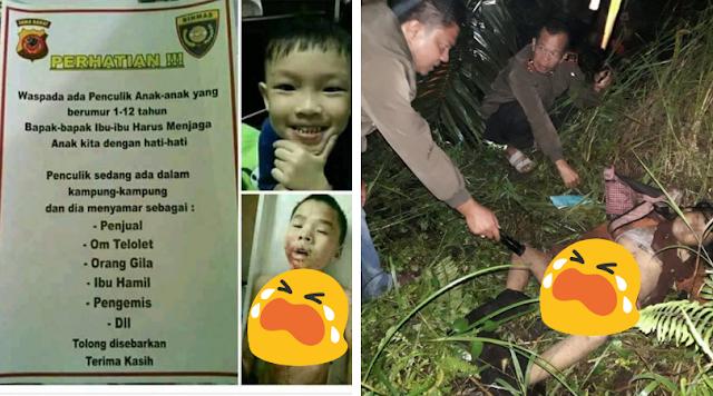Viral Hoax Penculikan Anak, Jangan Lihat Hoaxnya, Tapi Waspada Dengan Liciknya Penculik ini