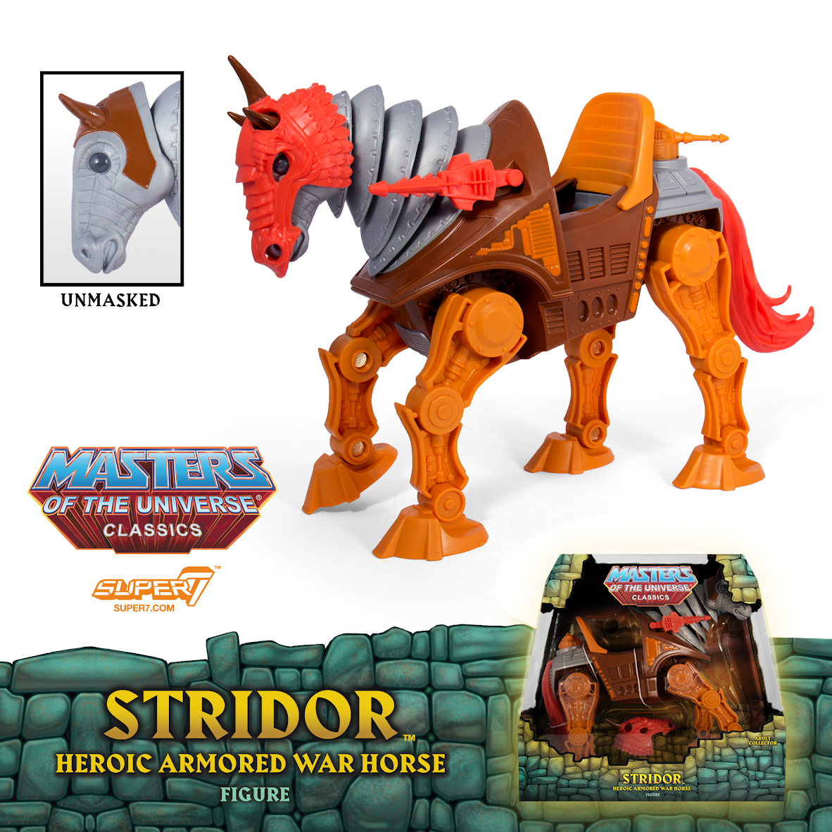 Pre-orders for Super7's Masters of the Universe Stridor the Heroic Armored  War Horse Figure starts today, Wednesday, April 25th at 12 noon Pacific  HERE for ...