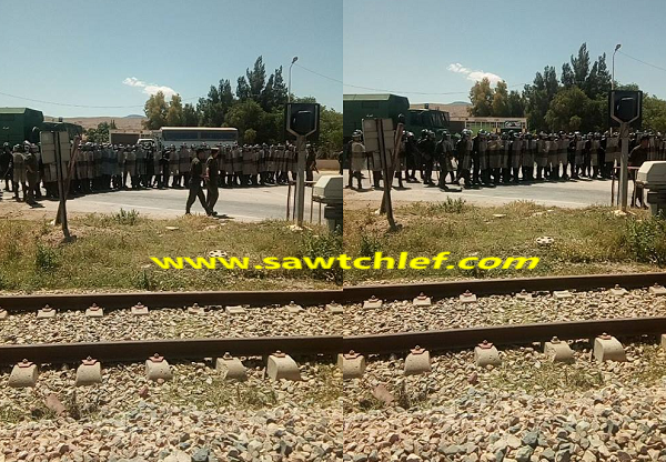 محتجون يشلون حركة تنقل القطارات ببقعة الخلايف بالشلف