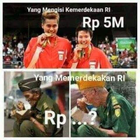 Terima Bonus Miliaran Rupiah, Foto Owi-Butet VS Veteran Jadi Meme