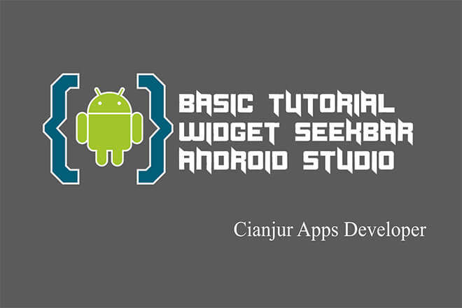 Panduan dasar cara menerapkan seekBar pada android studio, progress, setOnSeekBarChangeListener, onProgressChanged, onStartTrackingTouch, onStopTrackingTouch, java programing, android studio. Dari WILDAN TECHNO ART.