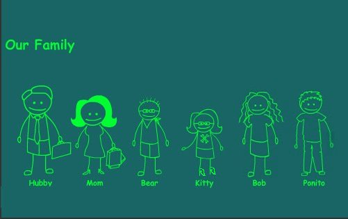 Our Stick Figure Family