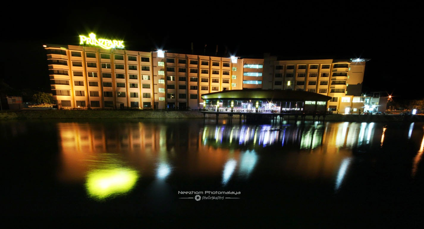 Prinzpark hotel waktu malam - night shot