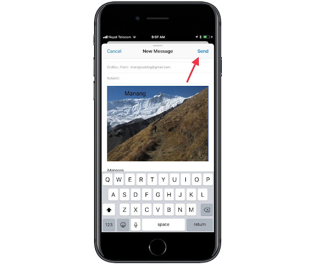 how to add email to iphone ios 11