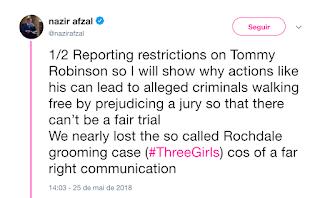 Tommy Robinson arrested - yet again. NazirAfzal4