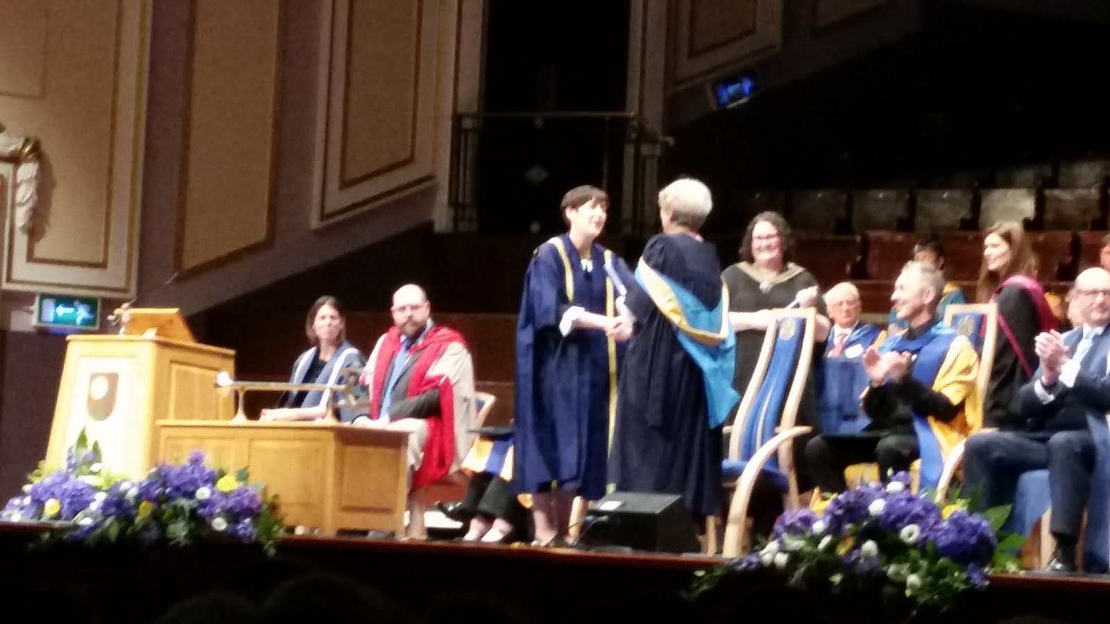 Receiving my B.A. (Hons) Eng. Literature at the age of 67