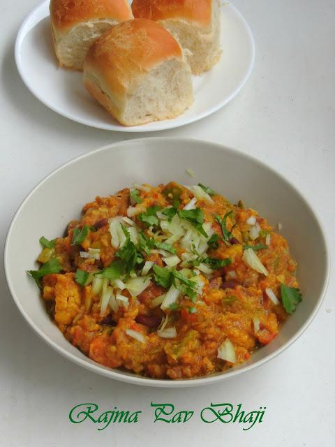 Kidney beans Pav Bhaji, Mumbai Pav bhaji