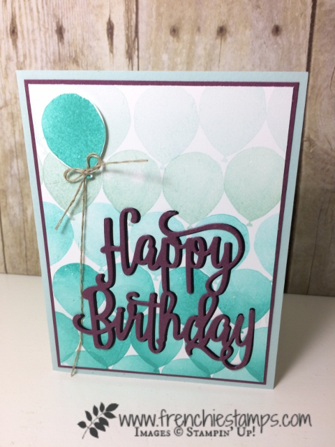 Ombree, Video, Adhesive sheet, Balloon Celebration, Stampin'Up!