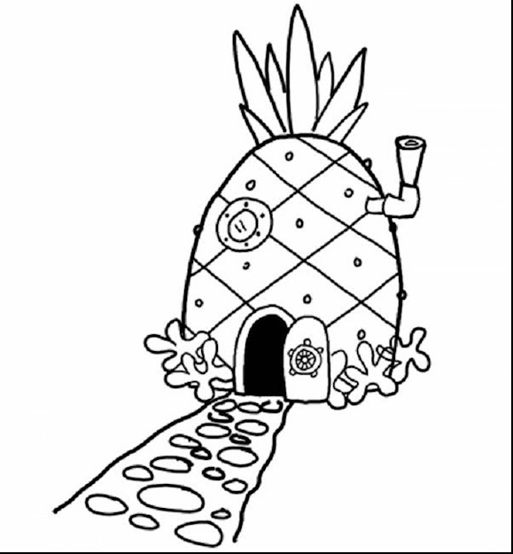 Extraordinary Spongebob Pineapple House Coloring Page With Spongebob  Printable Coloring Pages And Spongebob Printable Coloring Pages