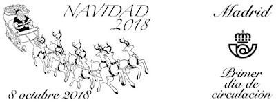 Navidad 2018 - España  - Matasellos de Madrid