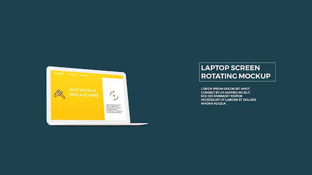 Free PowerPoint Template with Rotating Laptop Screen Mockup Slide 4
