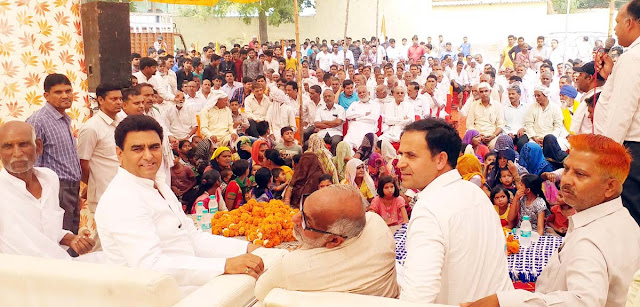 Union Minister of State, Mr. Krishnpal Gurjar, is not only a detergent to eat dalits' house: Lalit Nagar